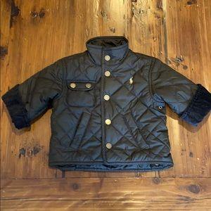 Ralph Lauren brown quilted barn coat 12 months